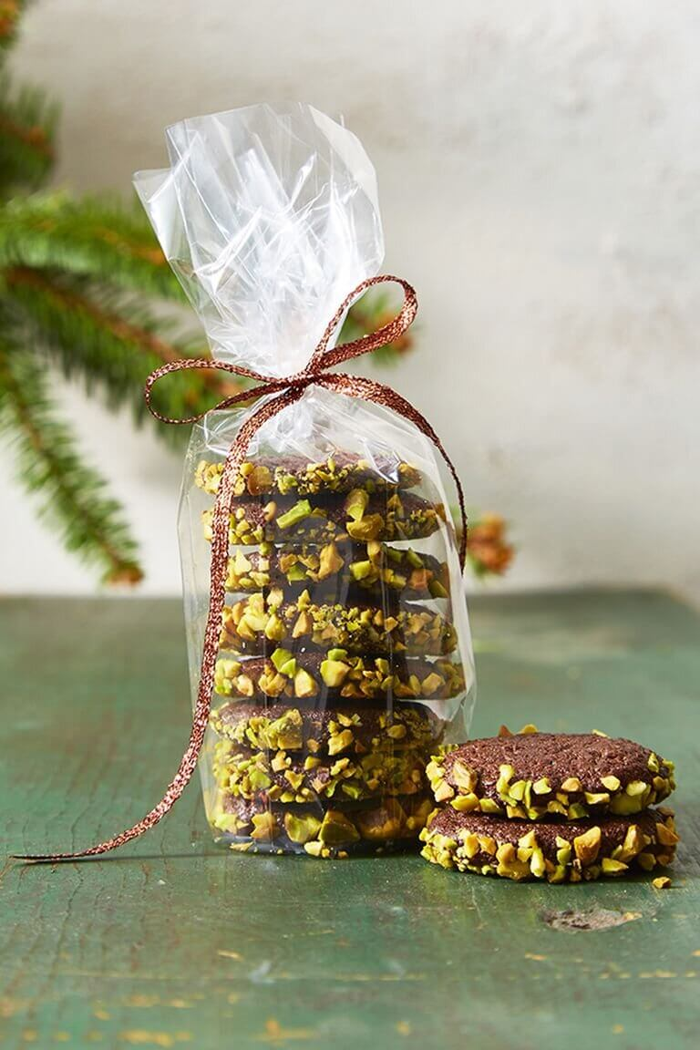Slice and Bake Chocolate and Pistachio Cookies -