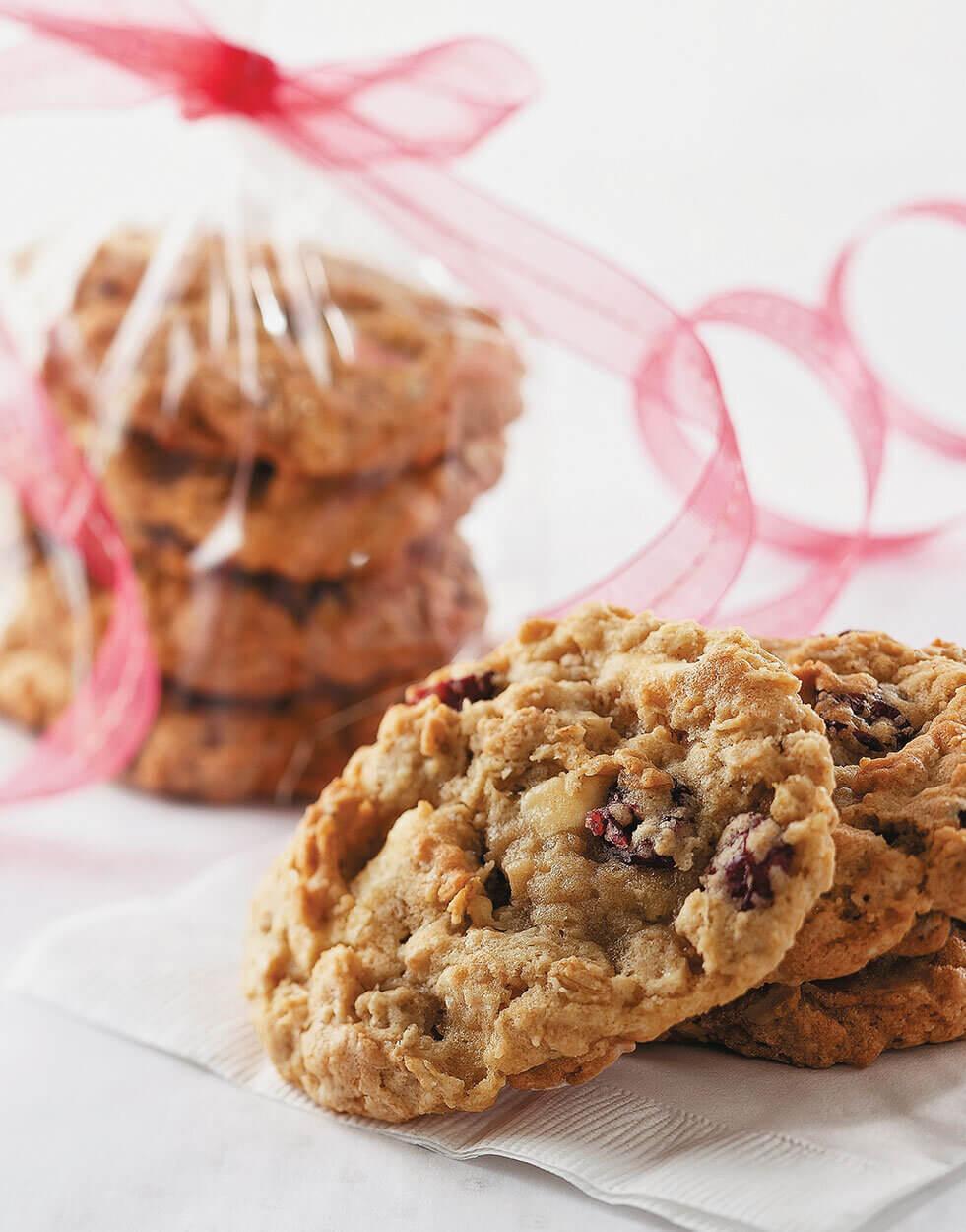 Oatmeal Cranberry Walnut Cookies -