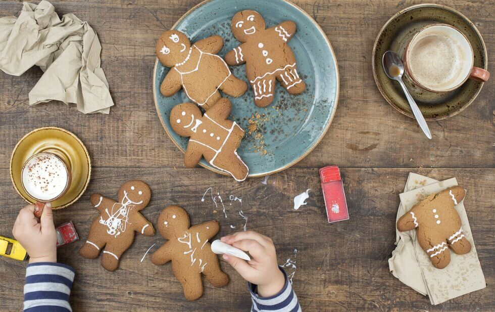 Gingerbread Men - Gingerbread MenGingerbread men are a holiday  classic — it doesn't feel like Christmas if you don't decorate at least  one! Gingerbread has been around a very long time, and gingerbread men  specifically have an interesting history. According to Carole Levin,  director of the medieval studies program at the University of  Nebraska-Lincoln and author of The Reign of Elizabeth I, they date back Queen Elizabeth I's 16th-century reign.  During that time, the royal family was known for elaborate dinners that  included marzipan shaped like fruit, castles, and birds, and the Queen  also had a royal gingerbread maker who created gingerbread men to  represent foreign dignitaries and people in her court. At the same time,  folk-medicine practitioners, AKA witches and magicians, prescribed them  as